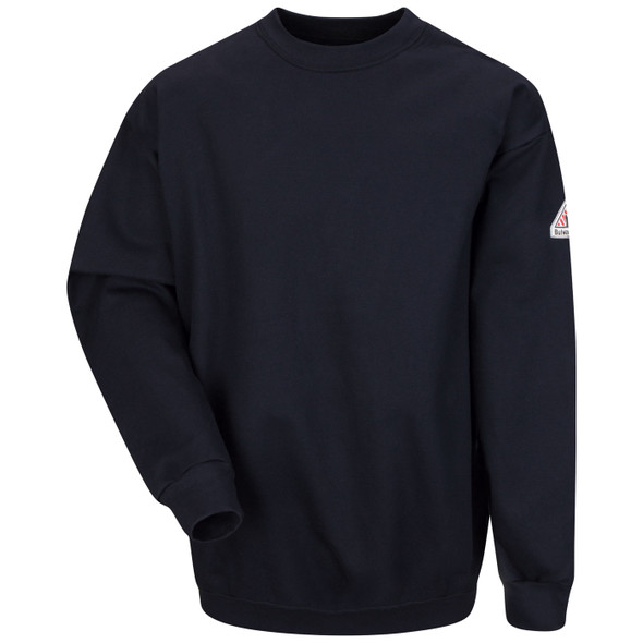 Bulwark FR Midweight Crewneck Pullover Navy Sweatshirt SEC2 Front