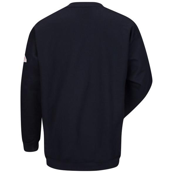 Bulwark FR Midweight Crewneck Pullover Navy Sweatshirt SEC2 Back