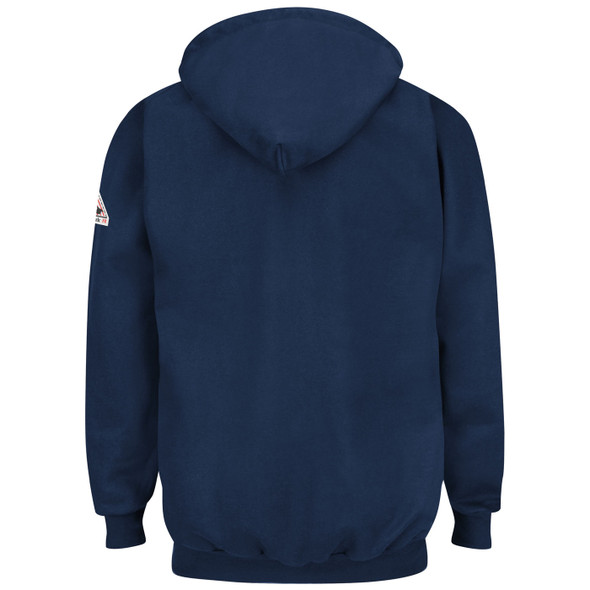 Bulwark FR Pullover Hooded Navy Sweatshirt SEH8 Back