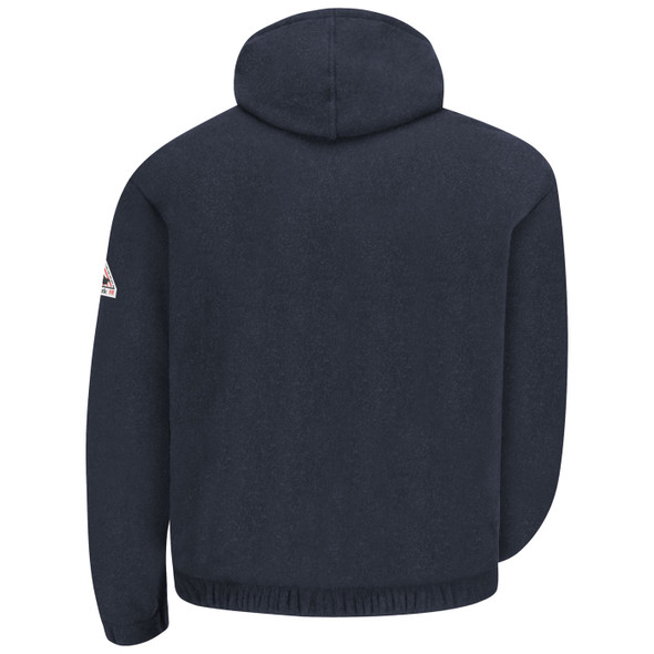 Bulwark FR Zip-Front Fleece Hooded Sweatshirt SMH6 Back