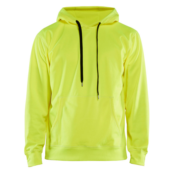 Blaklader Non-ANSI Hi Vis Hooded Sweatshirt 344925283300 Yellow Front