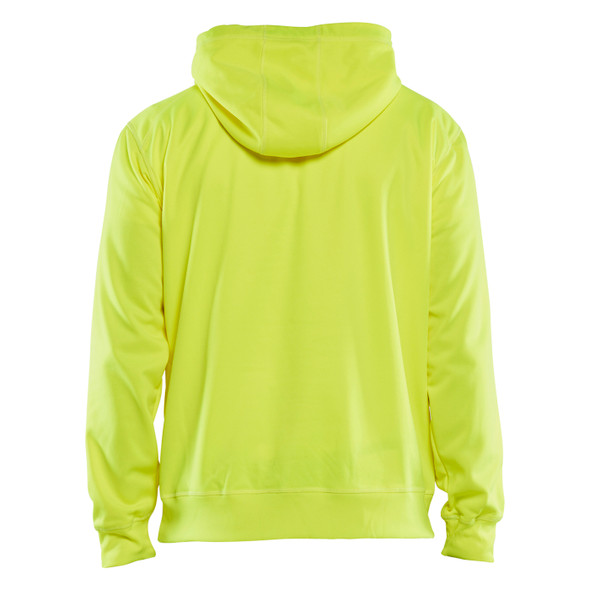 Blaklader Non-ANSI Hi Vis Hooded Sweatshirt 344925283300 Yellow Back