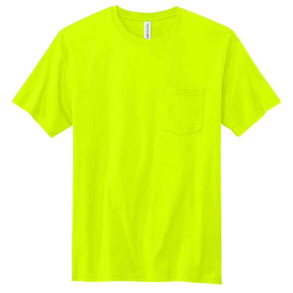 Volunteer Knitwear All American Enhanced Visibility T-Shirt with Pocket VL100P - Green Front