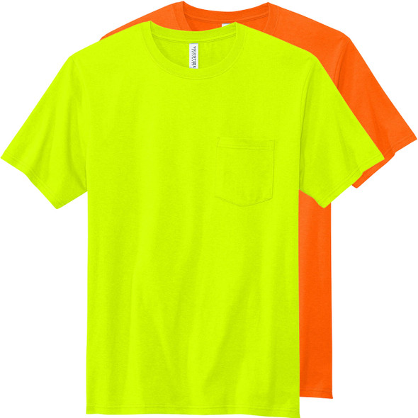 Volunteer Knitwear All American Enhanced Visibility T-Shirt with Pocket VL100P