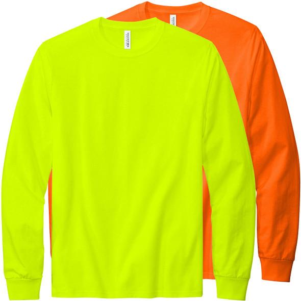 Volunteer Knitwear All American Long Sleeve Hi Vis T-Shirt VL100LS