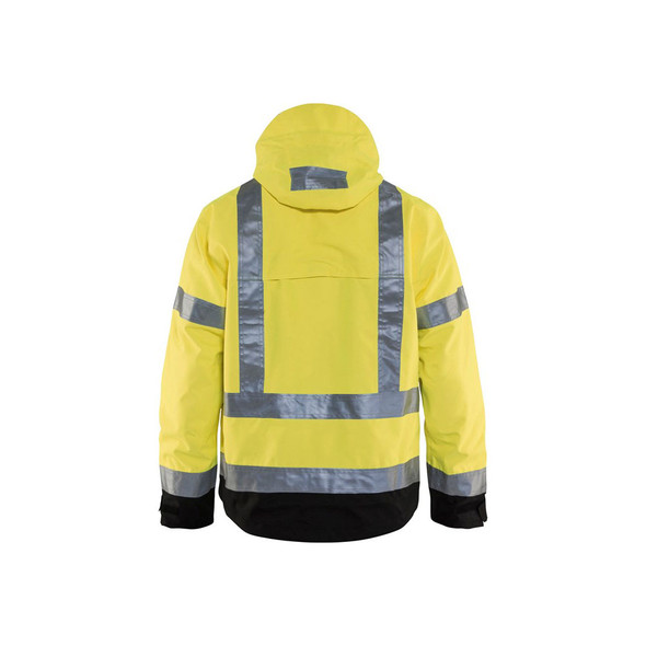 Blaklader Class 3 Hi Vis Shell Jacket 493719773399 Yellow Back