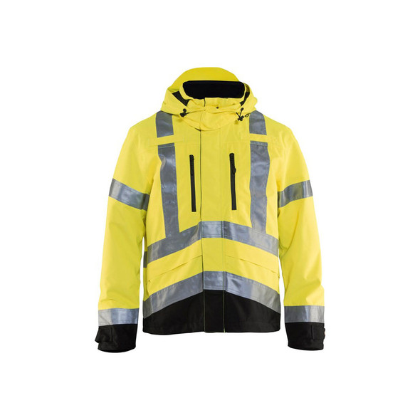 Blaklader Class 3 Hi Vis Shell Jacket 493719773399 Yellow Front