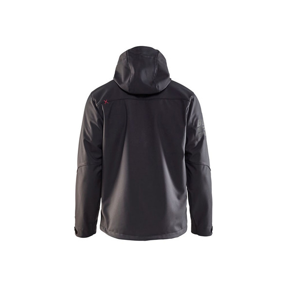 Blaklader US Pro Softshell Jacket 493925179756 Dark Grey Back