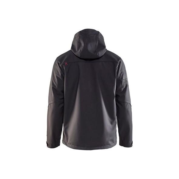 Blaklader US Pro Softshell Jacket 493925179756 Dark Grey Back