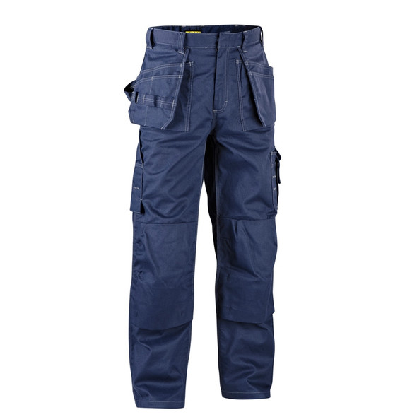 Blaklader 9.5oz. Flame Resistant Navy Blue Work Pants 163615508900 Front
