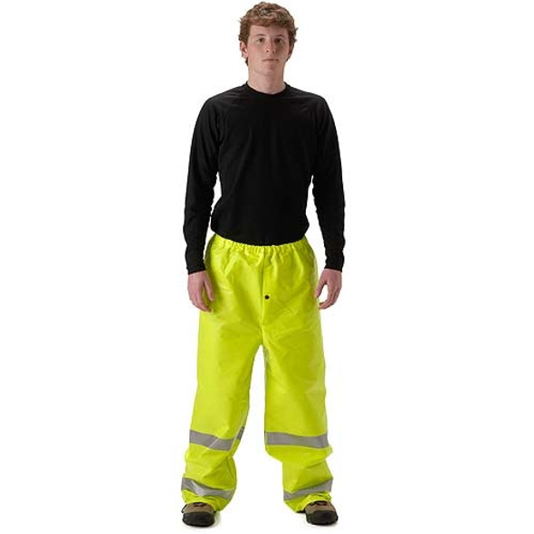 NASCO FR Class E Hi Vis ArcLite Made in USA Rain Pants 1501PFY