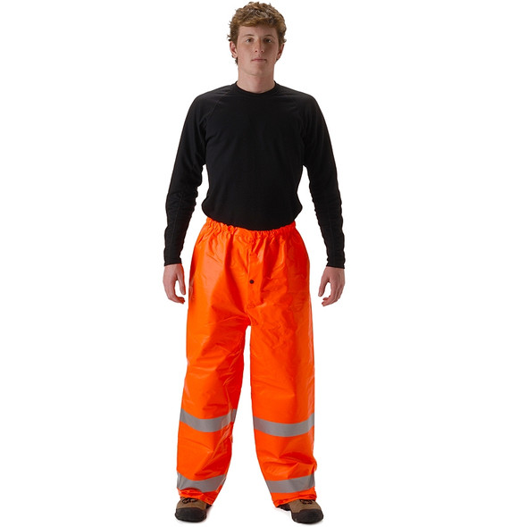 NASCO FR Class E Hi Vis ArcLite Made in USA Rain Pants 1501PFO