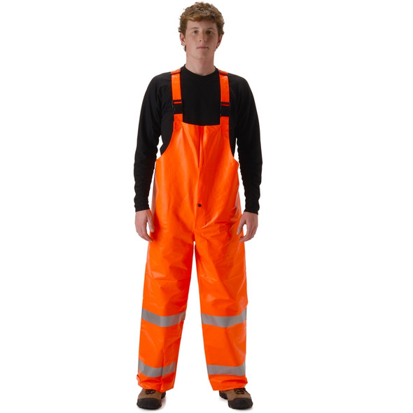 NASCO FR Class E Hi Vis ArcLite High Visibility Bib Trouser 1501TF Orange