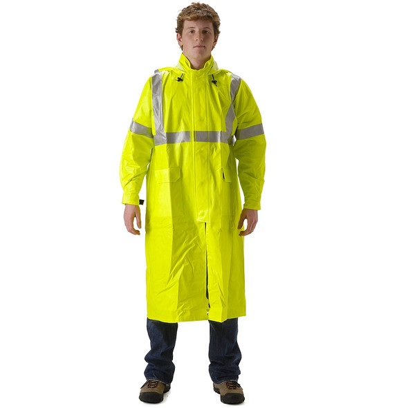 NASCO FR Class 3 Hi Vis ArcLite Full Length Made in USA Raincoat 1503CFY