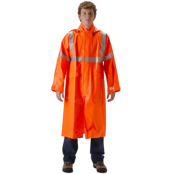 NASCO FR Class 3 Hi Vis ArcLite Full Length Made in USA Raincoat 1503CFO