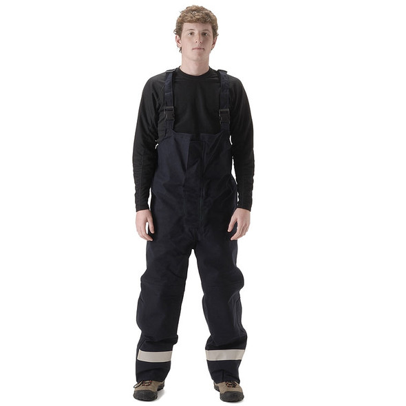 NASCO FR ASTM F1891 MP3 Arc Flash Fire Nomex Navy Bib Trouser 3501TN