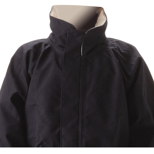 NASCO FR ASTM F1891 MP3 Arc Flash Fire Nomex Navy Rain Jacket 3503JN Collar
