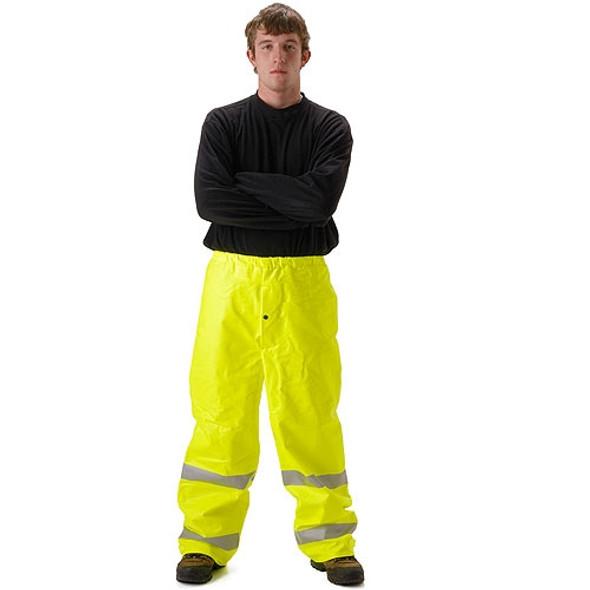 NASCO FR Class E Hi Vis Sentinel Arc Hydrocarbon Flash Fire Rain Pants 4501PFY