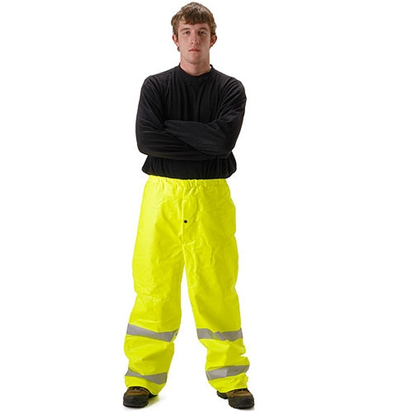 NASCO FR Class E Hi Vis Sentinel Arc Hydrocarbon Flash Fire Made in USA Rain Pants 4501PF Yellow