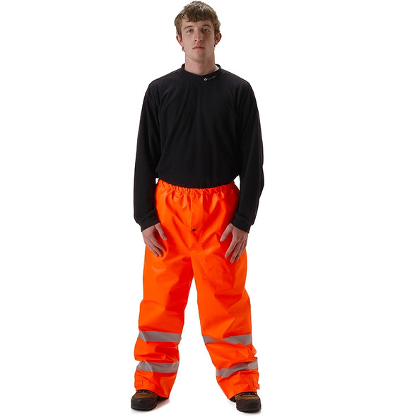 NASCO FR Class E Hi Vis Sentinel Arc Hydrocarbon Flash Fire Made in USA Rain Pants 4501PF Orange
