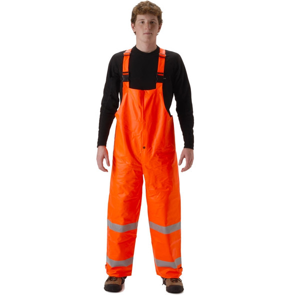 NASCO FR Class E Hi Vis Sentinel Arc Hydrocarbon Flash Fire Made in USA Bib Trouser 4501TF Orange