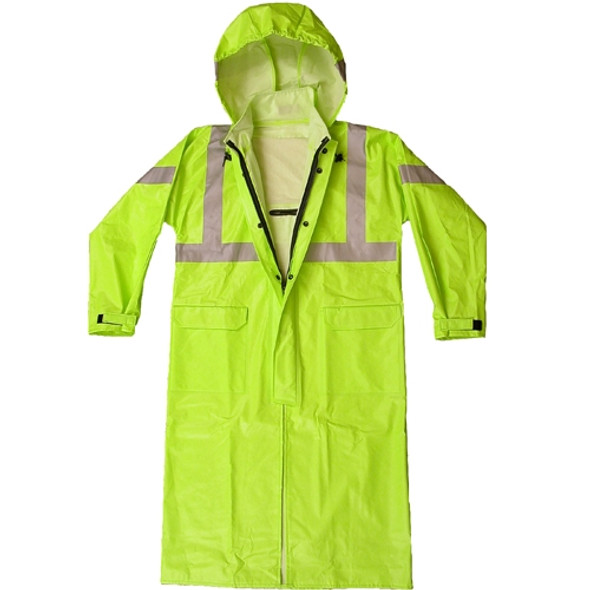NASCO FR Class 3 Hi Vis Yellow Sentinel Arc Flash Fire Made in USA Raincoat 4503CFY