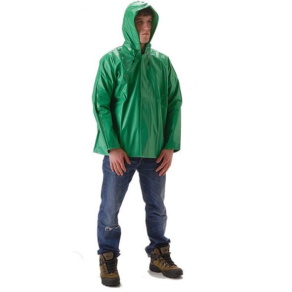 NASCO ASTM D6413 AcidBasic Chemical Handling Made in USA Industrial Rain Jacket 512JG Front
