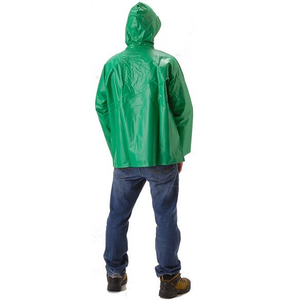 NASCO ASTM D6413 AcidBasic Chemical Handling Made in USA Industrial Rain Jacket 512JG Back