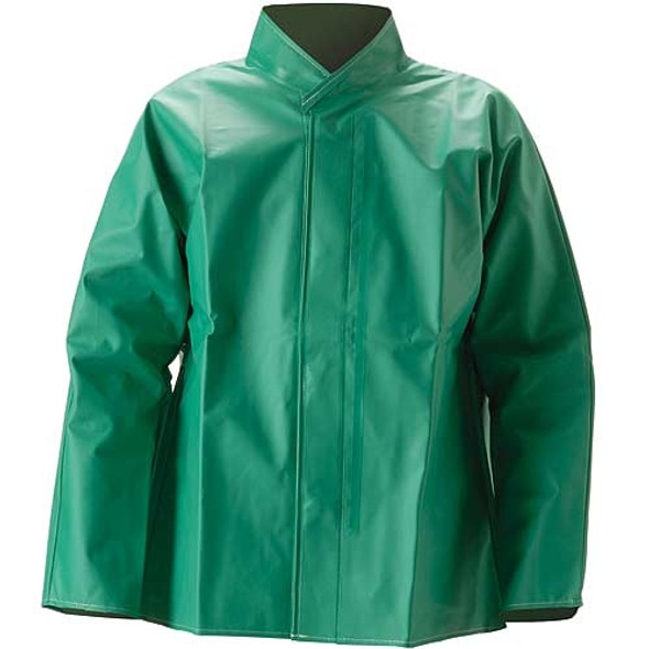 NASCO ASTM D6413 AcidBasic Chemical Handling Made in USA Industrial Rain Jacket 52JG Jacket