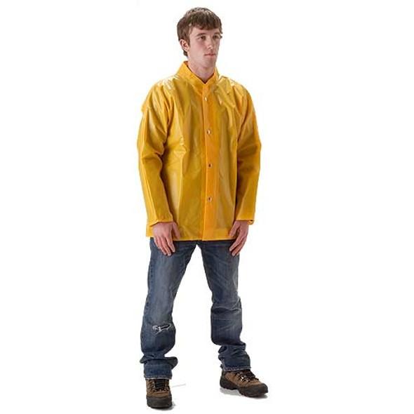 NASCO ASTM D751 WorkHard Waist Length Industrial Rain Jacket No Hood 60JSY Front