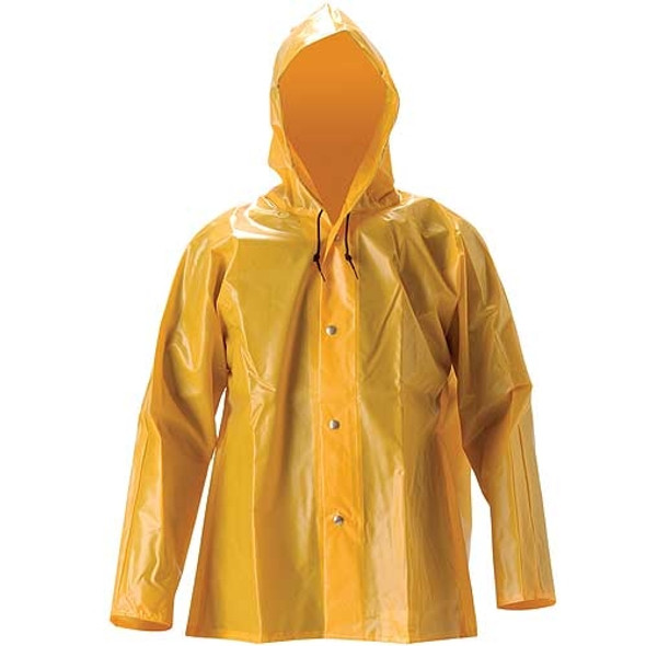 NASCO ASTM D751 WorkHard Waist Length Industrial Rain Jacket With Hood 61JSY Jack Front