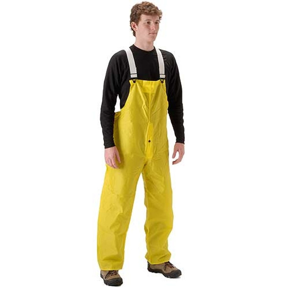 NASCO ASTM D6413 WorkLite Bib Rain Pants Elastic Suspenders Snap Fly 80TY