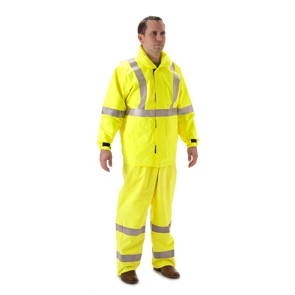 Breathable FR Dual Hazard high visibility Rain Jackets