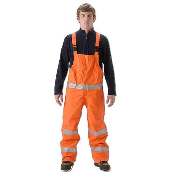 NASCO FR Class 3 Hi Vis Orange PetroLite Arc Flash Fire Chemical Splash Bib Trouser 9000TBO245 Front