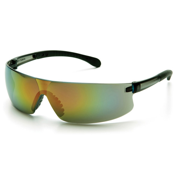 Box of 12 Pyramex Provoq Multi-Color Lens Mirror Safety Glasses S7255S Side
