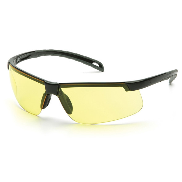 Pyramex Safety Glasses Ever-Lite Amber Black Frame - Box Of 12