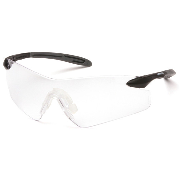 Box of 12 Pyramex Intrepid II Clear Lens Safety Glasses SB8810S Side