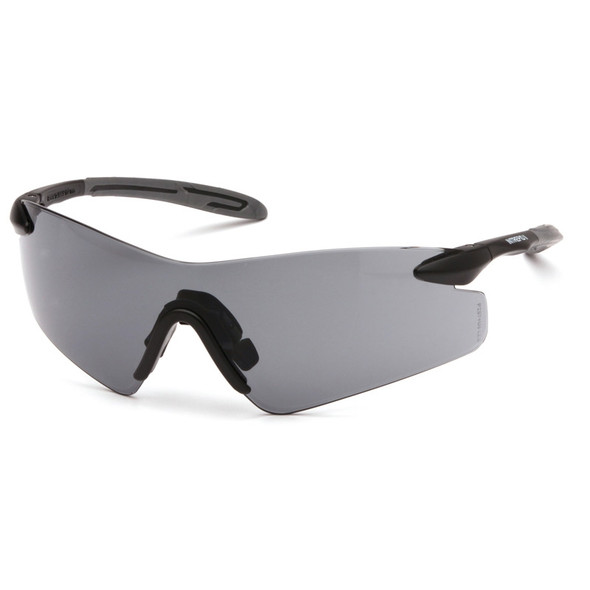 Box of 12 Pyramex Intrepid II Gray Lens Safety Glasses SB8820S Side