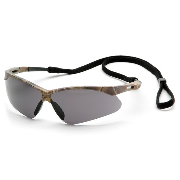 Box of 12 Pyramex PMXTREME Anti-Fog Gray Lens Safety Glasses with Cord SCM6320STP Side
