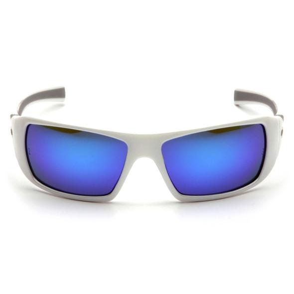 SW5665D Pyramex Safety Glasses Goliath Ice Blue Mirror - Box of 12