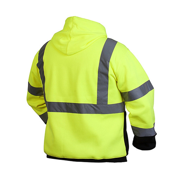 Pyramex Class 3 Hi Vis Hooded Sweatshirt with Black Bottom RSSH3210