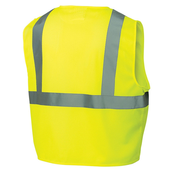 Pyramex Class 2 Hi Vis Lime Safety Vests RVZ2110 Back