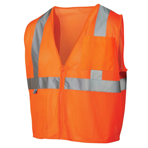 Pyramex Class 2 Hi Vis Orange Safety Vests RVZ2120 Front
