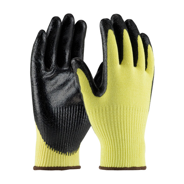 PIP Box of 72 Pair A2 Cut Level Hi Vis Yellow Kevlar Seamless Gloves Smooth Grip 09-K1400 Pair