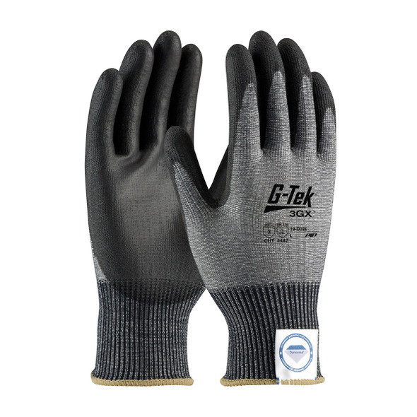 PIP Case of 72 Pair A3 Cut Level G-TEK 3GX Black Dyneema Smooth Grip Safety Gloves 19-D326