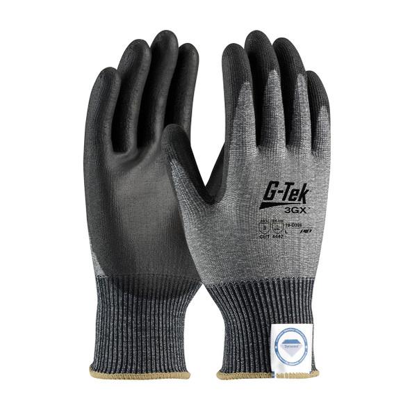 PIP Case of 72 Pair A3 Cut Level G-TEK 3GX Black Dyneema Smooth Grip Safety Gloves 19-D326