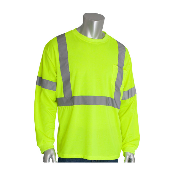 PIP Class 3 Hi Vis Long Sleeve T-Shirt 313-1300 Yellow