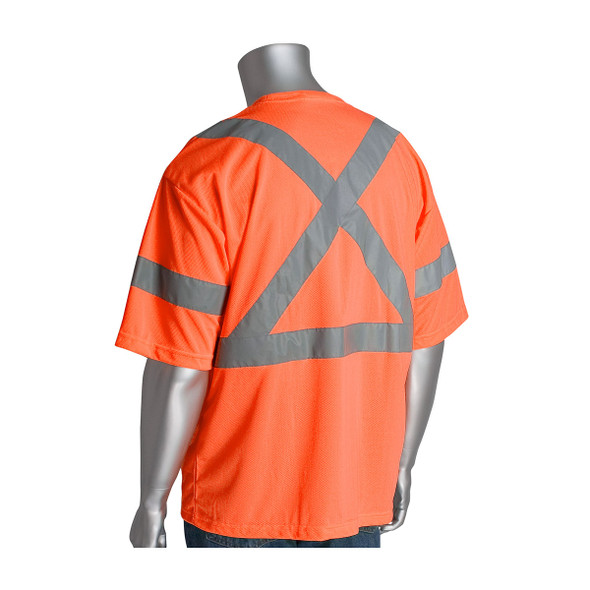 PIP Class 3 Hi Vis X Back T-Shirt PIP 313-1400 Orange Back