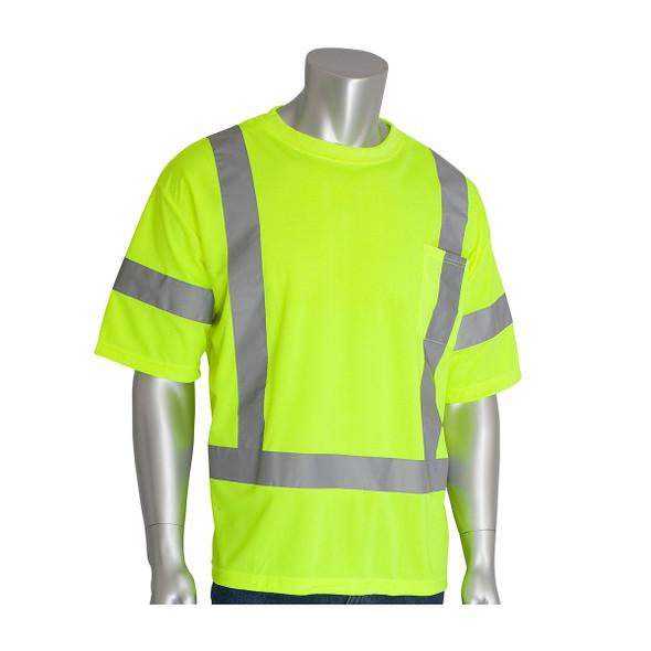 PIP Class 3 Hi Vis Short Sleeve T-Shirt 313-CNTSE Yellow