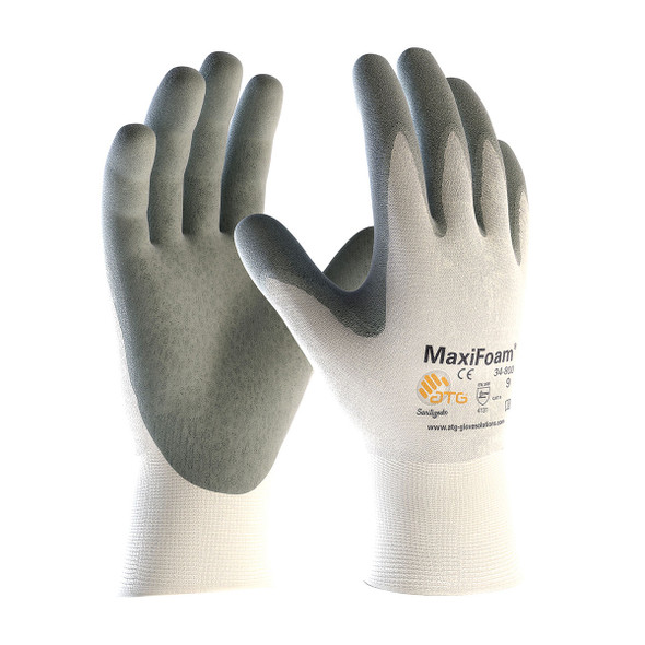 PIP Case of 144 Pair MaxiFoam Seamless Knit Nylon Nitrile Coated Gloves 34-800 Pair